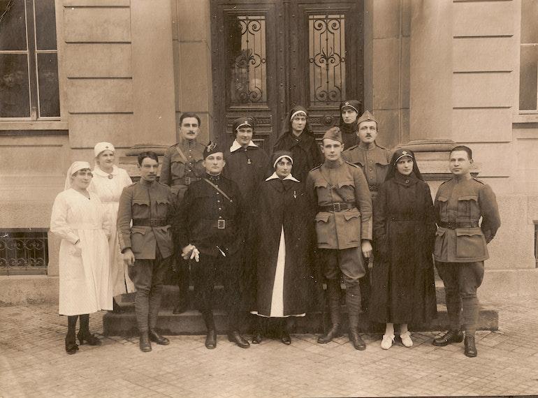 A Bienne lors de la grève de novembre 1918