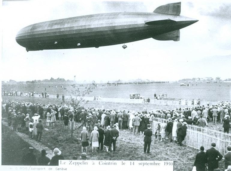 Le Zeppelin à Cointrin, 14.09.1930