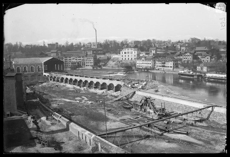 Genève, bâtiment des forces motrices: construction