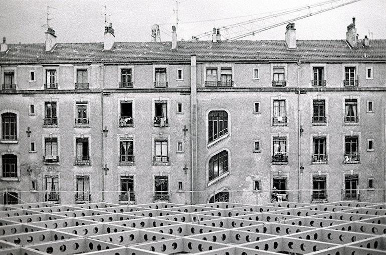 Genève, sur le toit du Noga Hilton en construction