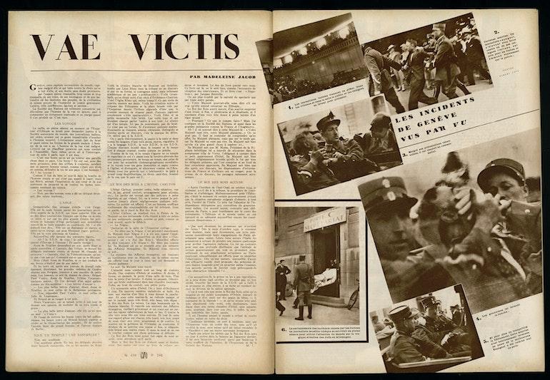 Le magazine Vu et l'acte désespéré de Stefan Lux à la SdN