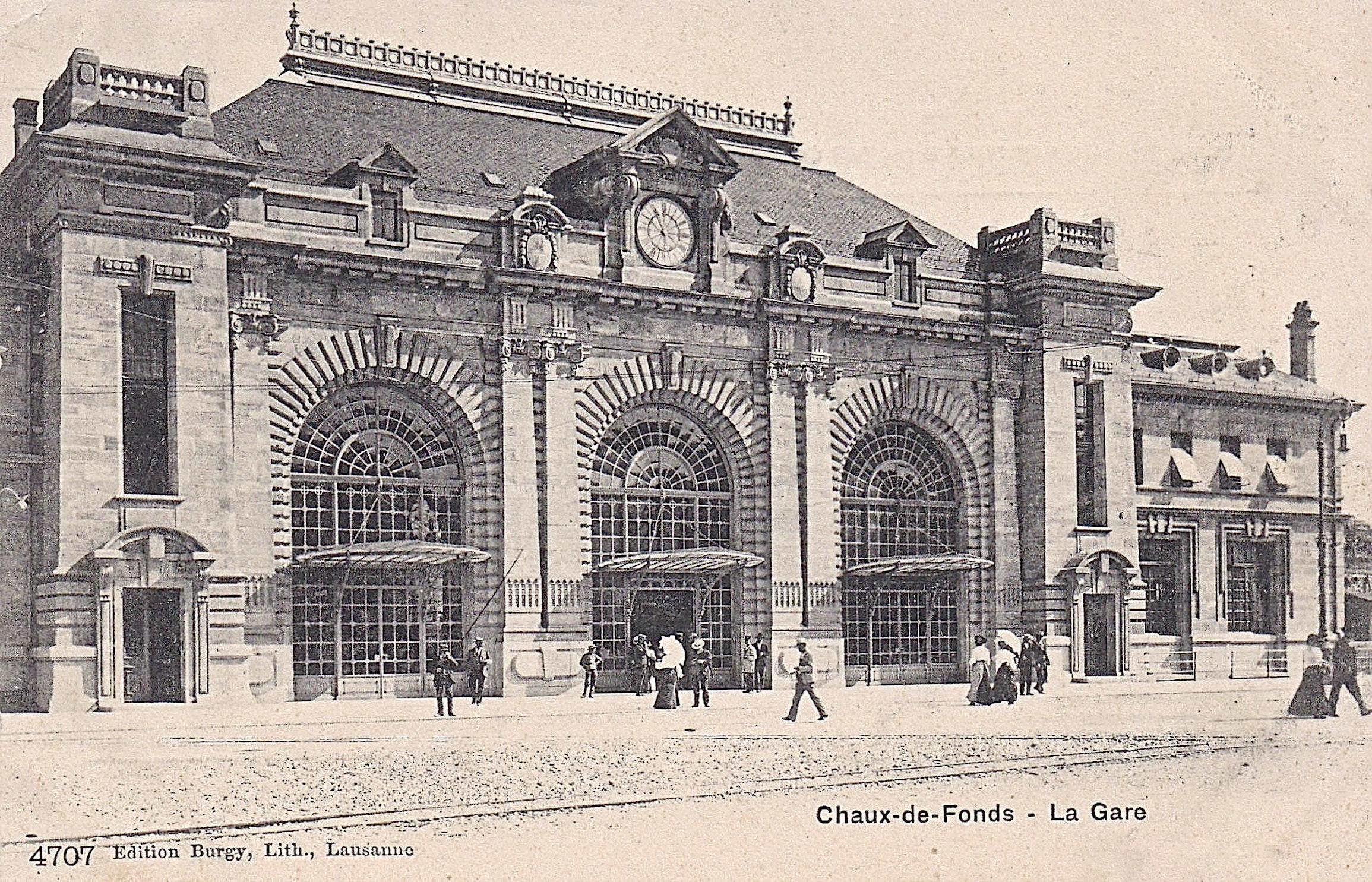 La Chaux De Fonds La Gare Notrehistoire Ch