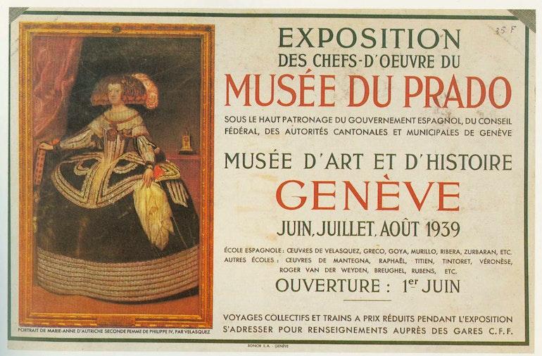 Affiche de l'exposition des chefs-d'œuvre du Prado
