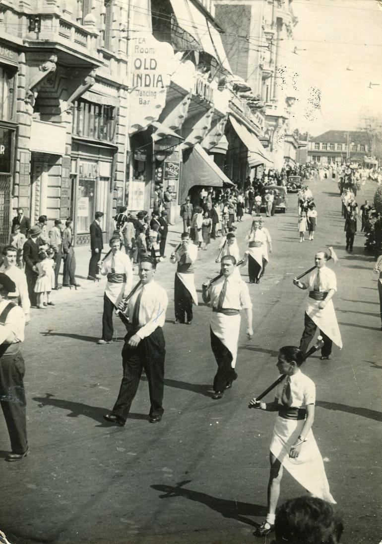 Lausanne cortège des garçons bouchers.