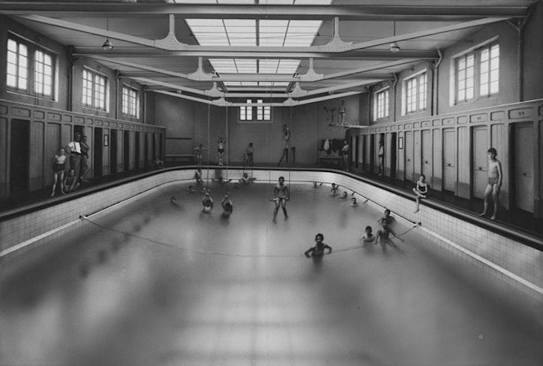 Lausanne, buanderie-piscine Haldimand vers 1910-1920