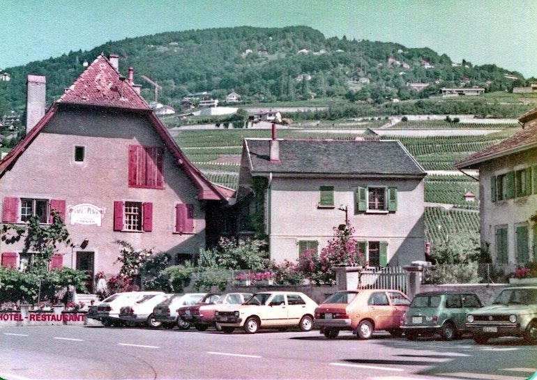 La place du village à Corsier-sur-Vevey