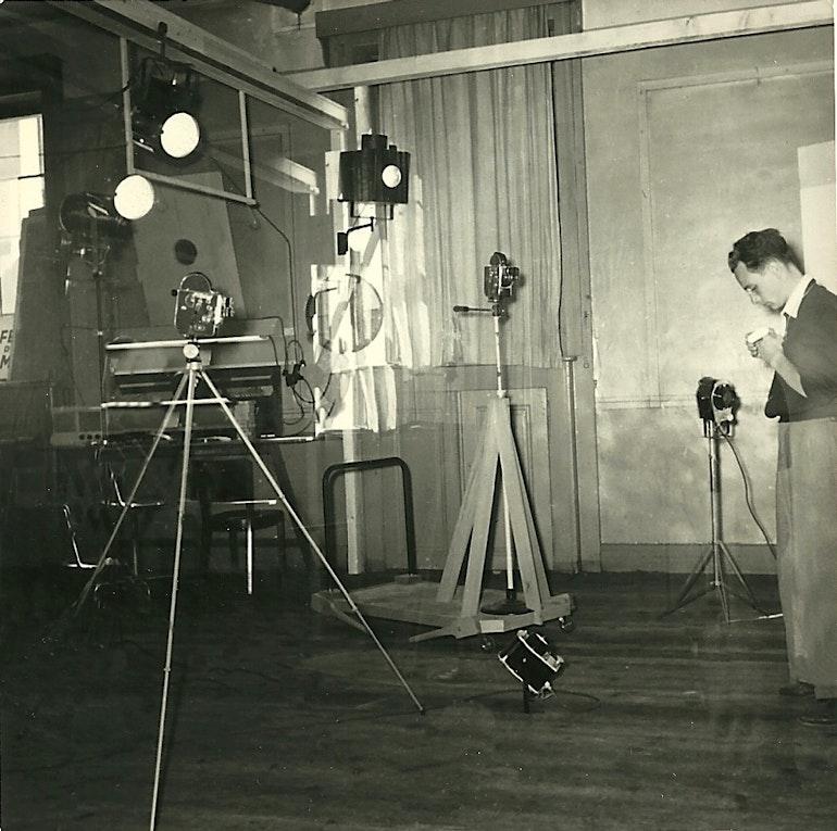 Le studio de la Télévision Genevoise