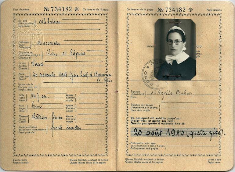 Passeport de la Croix-Rouge