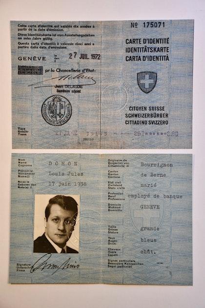 Carte Identite Suisse.Carte D Identite De Louis Jules Domon Notrehistoire Ch